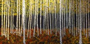 Lorraine Fredette Birch trees Acrylic 30x60 $450.00